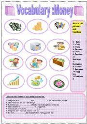 english worksheet money vocabulary money pinterest worksheets and english. Black Bedroom Furniture Sets. Home Design Ideas