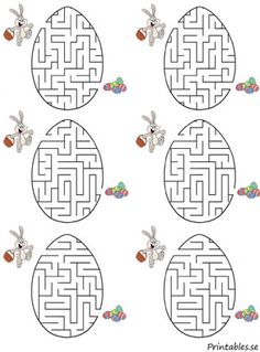 Small maze: Help the chicks find their easter egg (free printable) Easter Activities, Craft Activities For Kids, Preschool Crafts, Easter Crafts, Easter Coloring Pages, Colouring Pages, Easter Printables, Free Printables, Printable Mazes