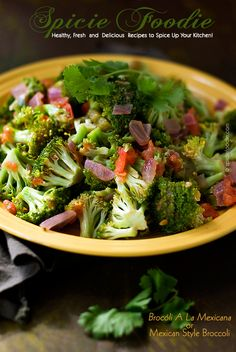 Brocóli A La Mexicana or Mexican Style Broccoli | | #broccoli #Mexican #vegan #sidedish #cleaneating #healthy
