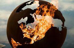 feuerstelle design die erde brennend