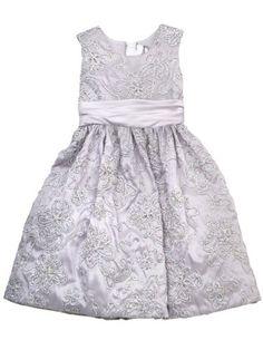 Rare Editions Girls 7-16 Soutach Dress On Taffeta $57.40