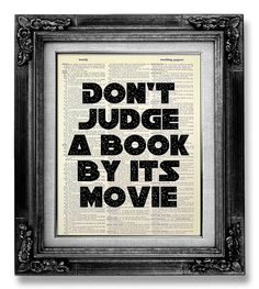 This hilarious wall art would make a great addition to a home library... or home theater, if you enjoy irony.