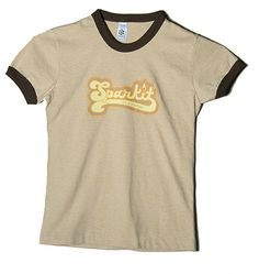 Mens Sparkit Ringer Tee – Brown with Chocolate Ringer  100% cotton Tee with multi-colored Sparkit Logo  $15