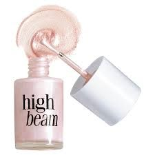 Benefit highbeam- Just bought this for us all. Got a really good deal on it! Do not buy any highlighter until we've tried it on your skin in February.
