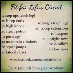 Fit for Life's Circuit