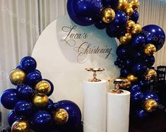 Gold Confetti Balloons, White Balloons, Latex Balloons, Marble Balloons, Birthday Balloon Decorations, Graduation Decorations, Birthday Balloons, Blue Party Decorations, Balloon Arch
