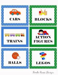 27 New Ideas Kids Room Organization Toys Bin Labels Toy Bin Labels, Kids Labels, Labels Free, Toys For Boys, Kids Toys, Boy Toys, Organizing Labels, Organising, Classroom Labels