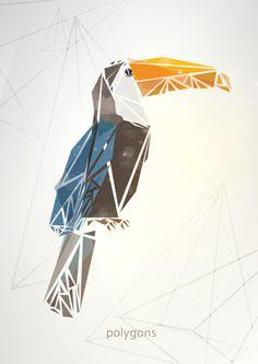 polygon animals by Emiliy Lokta, via Behance