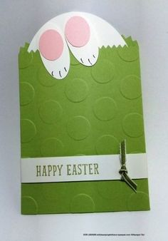 Small Oval Punch, the Large Easter Bunny Bag made with Stampin' Up!'s Indescribable Gift stamp set, Oval Punch, the Ovals Collection Framelits and the Mini Treat Bag Thinlit.