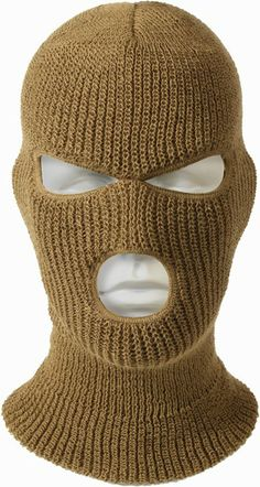 Coyote Brown Acrylic 3 - Hole Military Cold Weather Ski Face Mask Usa Made 5439 Ski Mask Tattoo, Gas Mask For Sale, Coyote Tattoo, Army Navy Store, Gangsta Tattoos, Ski Hats, Balaclava, Head And Neck, Male Face