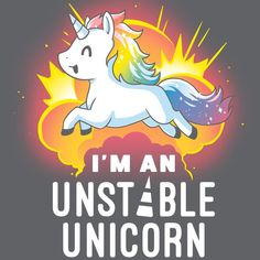 Watch out! I'm unstable! 😊 🦄 Get the gray I'm An Unstable Unicorn t-shirt only at TeeTurtle! Exclusive graphic designs on super soft cotton tees. Unicorn Drawing, Unicorn Art, Cute Unicorn, Unicorn Poster, Black Unicorn, Beautiful Unicorn, Unicorn Head, Cute Animal Drawings, Kawaii Drawings