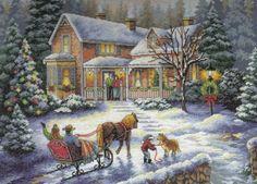 Вышивка Домой на праздники (Größe)