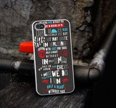 Half a Heart Lyrics One Direction Case for iPhone 4/4S iPhone 5/5S/5C and Samsung Galaxy S3/S4/S5 on Etsy, $11.60