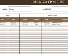 medical record template excel