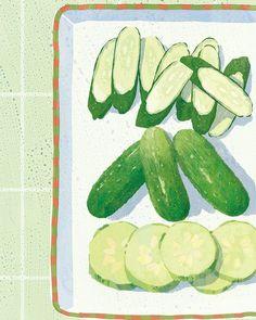 #deeprunroots by @chefandthef @littlebrown @donmorrisdesign #illustration #illustrator #tatsurokiuchi #木内達朗 #イラストレーション #イラスト #lifestyle #life #happy #chefandthefarmer #fruits #sweet #northcarolina #vegetables #野菜 #cucumbers
