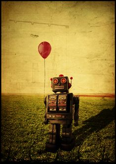 Robot with balloon (doesn't need a caption. sheesh.)