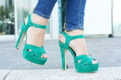 Teal Heels #teal #shoes