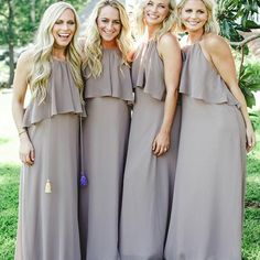 Halter Chiffon Beautiful Charming Long Bridesmaid Dresses with Ruffles , Backless Pageant Dresses, Evening Party Dresses, Backless Bridesmaid Dress, Wedding Bridesmaid Dresses, Chiffon Ruffle, Chiffon Tops, Ruffles, Ruffle Top, Pageant Dresses, Party Dresses, Formal Dresses