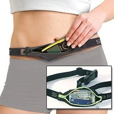 SPIbelt: Designed by a runner for 'no bounce, shift or ride', low profile zip pouch with an adjustable waist band. Amazingly stretchy! Comes in a variety of styles. #SpiBelt #Runners #Fanny_Pack
