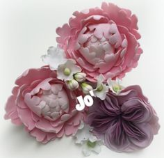 Sugar flowers , sugar peony , sugar English rose , cake design, sugar craft , fondant
