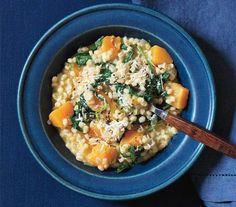 Baked Barley Risotto With Butternut Squash | Nutty, robust whole grains—think barley, quinoa, and bulgur—are a delicious and healthful way to bulk up your meals.