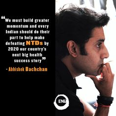 Our celebrity ambassador, Abhishek Bachchan, met with women and men suffering from lymphatic filariasis, one of the most common NTDs in India. Watch the video here: www.end7.org/india