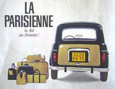 Renault 4 - - 4 ELLE i vecchi modelli Retro Cars, Vintage Cars, Antique Cars, Classic Motors, Classic Cars, Marketing Poster, Corgi Toys, Car Posters, Car Advertising