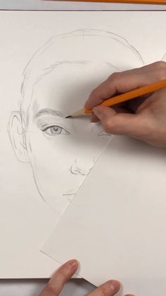 An ultimate lesson on how to draw a perfectly proportioned face. What do you guys think? Emoji Drawings, Dark Art Drawings, Art Drawings For Kids, Art Drawings Sketches Simple, Pencil Art Drawings, Human Drawing, Guy Drawing, Easy Nature Paintings, Sketches Of Girls Faces