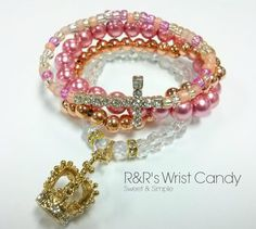 Princess Dainty Beaded Bracelet Set by RandRsWristCandy on Etsy, $8.00  *WEEKEND SALE! TAKE 15%OFF YOUR PURCHASE + FREE U.S. SHIPPING! USE CODE: BLK15*