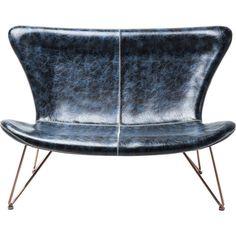 Sofa Miami Vintage Blue 2-Seater - KARE Design