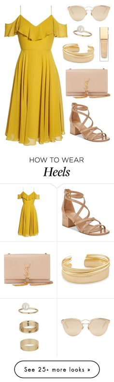 """Summer Breeze"" by tasha-m-e on Polyvore featuring Jenny Yoo, Material Girl, Yves Saint Laurent, Christian Dior, Kendra Scott and Miss Selfridge"