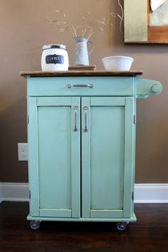 Kitchen Island with Storage by PaintedOlives on Etsy, $175.00