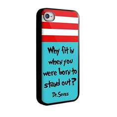Why fit in when you were born to stand out dr for iphone 5/5s black Case