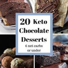 Decadent Chocolate Keto Desserts under 6 net carbs