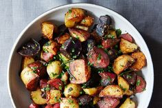 Butter-Braised Fingerlings (I have only tried olive oil...time to try something new.) Potato Recipes, Beef Recipes, Cooking Recipes, Potato Dishes, Veggie Recipes, Food52 Recipes, Spanish Dishes, Recipe Directions, Gourmet