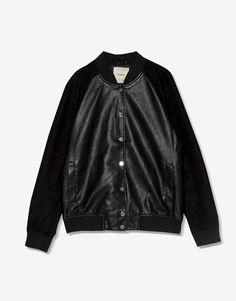 Faux leather bomber jacket - #pullandbearhouse - Trends - Woman - PULL&BEAR Ukraine