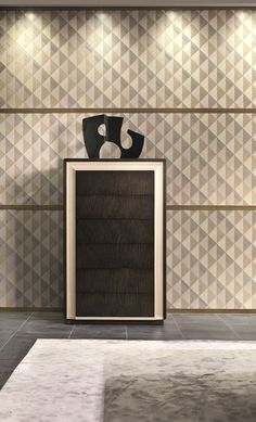 Galileo cabinet in Pama and Sycomoro dark frisè MB60 #interiordesign #furniture #madeinitaly #luxury Luxurious Bedrooms, Garage Doors, Relax, Journey, Lettering, Interior Design, Luxury, Outdoor Decor, Dark