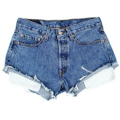 Original 501s [W29] ($86) ❤ liked on Polyvore featuring shorts, bottoms, light blue shorts, frayed denim shorts, cut off shorts, denim shorts and denim cutoff shorts