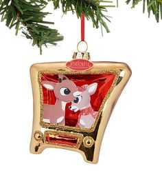 Loving this Department 56 Rudolph the Red-Nosed Reindeer & Clarice TV Ornament on #zulily! #zulilyfinds