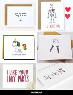 21 Naughty Valentine's Day Cards to Get You in the Mood - Birthday - PS - Valentinstag Diy Valentines Day Gifts For Him, Funny Valentines Cards, Naughty Valentines, Valentines Diy, Valentine Cookies, Diy Valentine's Cards For Him, Baby Showers, Cards For Boyfriend, Cricut