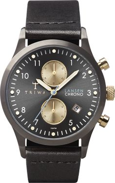 Triwa Walter Lansen Chrono Black Classic Ref. number LCST101CL01