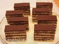 Dobošové rezy Cookie Desserts, Cake Cookies, Recipies, Food And Drink, Candy, Chocolate, Baking, Sweet, Sheet Metal
