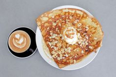 Sweet crepes and coffee at Four Frogs Creperie