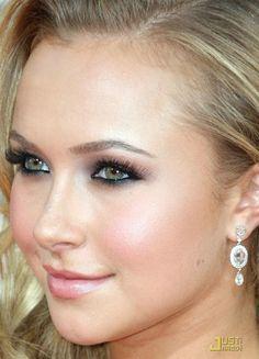 hayden panettiere makeup | hayden panettiere golden globes, hooded eyes makeup