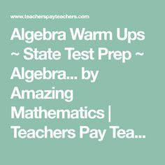Algebra Worksheets for Simplifying the Equation | Middle School Math ...