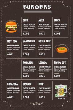Burger menu template. Click to customize.
