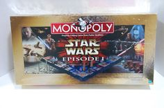 Monopoly Star Wars Episode 1 Collector Edition 3-D Board Game Gold Box Complete #Hasbro