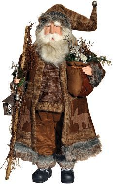 Woodland Santa This would be a great addition to my Santa collection. WOW. They will look great displayed in the mountain house.