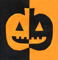Art Projects for Kids: halloween  positive/negative space