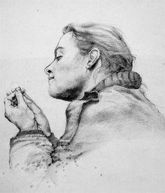 """M.arte: ANTOLOGIA """"ritratto di michela B"""" lapis sù carta 1985"""